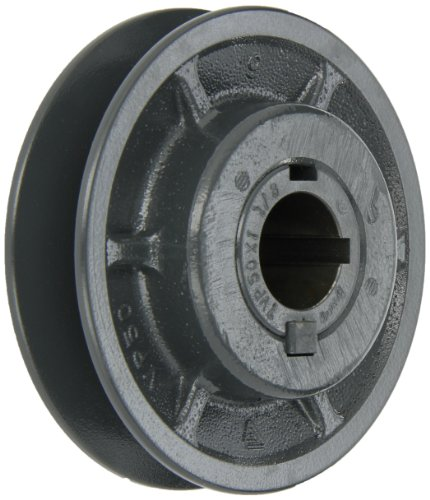 Browning 1VP50X 1 1/8 Variable Pitch Sheave, 1 Groove, Finished Bore, Cast Iron Sheave, for 3L, 4L or A, 5L or B Section Belt ()