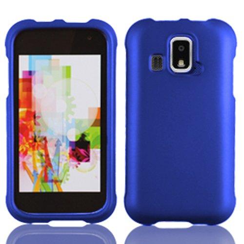 LF 4 Item Bundle - Designer Case Cover, Lf Stylus Pen, Screen Protector & Wiper for (US Cellular) Kyocera Hydro XTRM C6721 (Blue)
