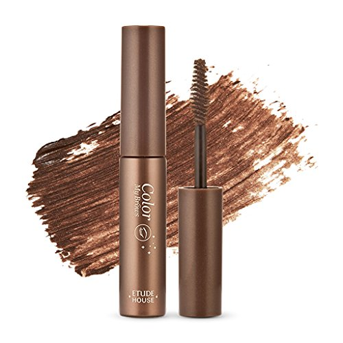 ETUDE HOUSE Color My Brows 4.5g #1 Rich Brown - Eyebrow Mascara, Natural Eyebrow Makeup