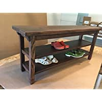 Hallway / Mud Room / Foyer Bench 36 With Two Shoe Shelves
