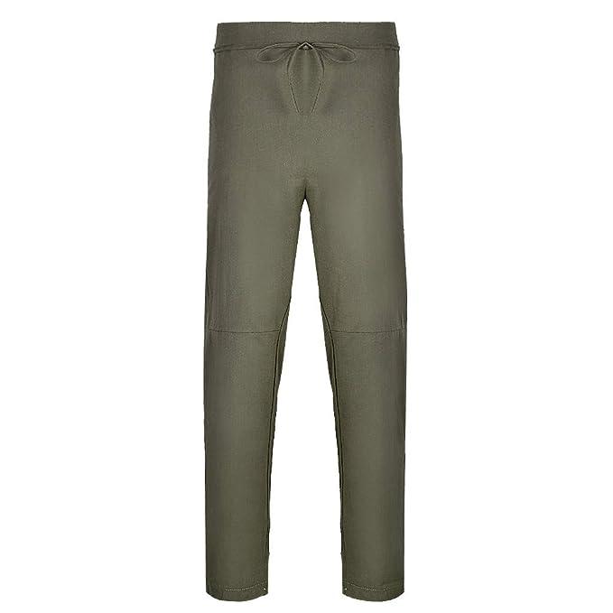 FRAUIT Pantalones para Hombre Casual Pantalones Harén Deportivos ...