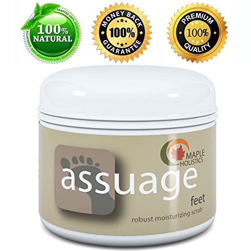 Gommage pied pour pieds secs - calleuses et naturelles, anti-fongiques et exfoliantes - absorption rapide
