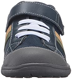 See Kai Run Boys\' Randall Sneaker, Navy Leather, 3 M US Infant