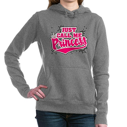 Royal Lion Women's Hooded Sweatshirt Dk Just Call Me Princess with Crown - Charcoal Heather, 2X