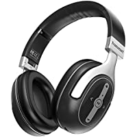 Tronsmart Active Noise Cancelling Headphones, Over Ear Stereo Wireless Bluetooth Headset, Foldable, Soft Memory-Protein Earmuffs, 24 Hours Playtime and Built-in Mic and 3.5mm Audio Jack