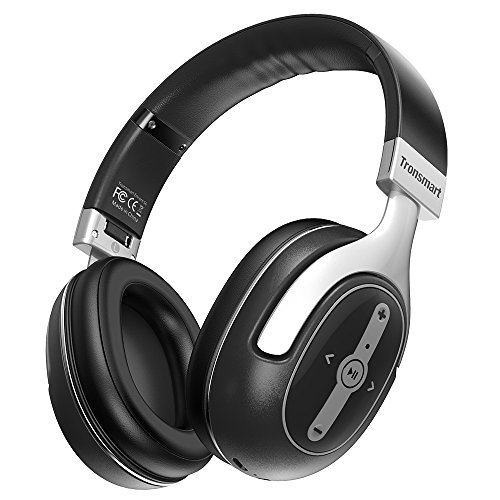 Tronsmart Active Noise Cancelling Headphones, Over Ear Stereo Wireless Bluetooth Headset, Foldable, Soft Memory-Protein Earmuffs, 24 Hours Playtime and Built-in Mic and 3.5mm Audio Jack Review