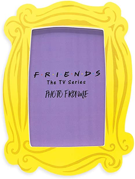 Silver Buffalo Friends Yellow Picture Frame | Monica's Yellow Peephole Door Frame | Best Friend Picture Frame | Friends TV Show Merchandise Photo Frame | 4 x 6 Frames (FRD30547)