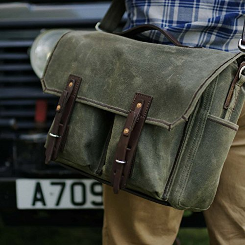 Saddleback Leather Canvas Front Pocket Gear Bag - Messenger Bag with 100 Year Warranty by Saddleback Leather Co. (Image #6)
