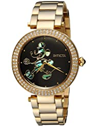 Invicta Womens Disney Limited Edition Quartz and Stainless Steel Casual Watch, Color:Gold-Toned (Model: 23789)