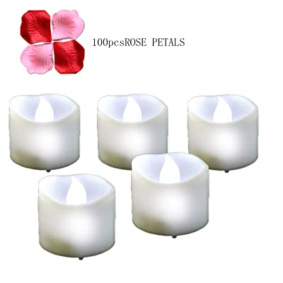 Youngerbaby 12PCS LED Tea Lights with Timer for Wedding Cool White Flickering Timing Function Flameless Small Candles with Timer(6 hrs on 18 hrs Off),Battery Operated Electronic Candles: Home Improvement