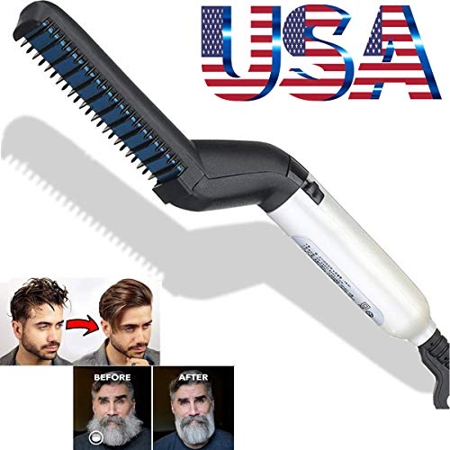 Quick Hair Straightener Multifunctional Curler Beard Straightener, Massage Comb for Men Show Cap Tool