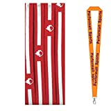 FIRETHREADS Lacrosse Bundle: 3 Shooter Laces RED/WHITE with 1 Performall Lanyard Shooter-RED/WHITE-1P