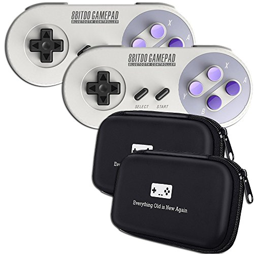 8Bitdo SN30 Double-Pack Controller Bundle with Bonus Carrying Cases - for iOS/Android/Mac/PC/Switch/SNES Classic