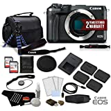 Canon EOS M6 Mirrorless Digital Camera (Body Only, Black) 1724C001- Premium Bundle - International Version (No Warranty)