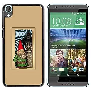 iKiki Tech / Estuche rígido - Garden Brown Golden Poster - HTC Desire 820