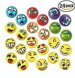 Kyпить EMOJI Stress Ball 24 PCS Foam Squashy Balls (2.5