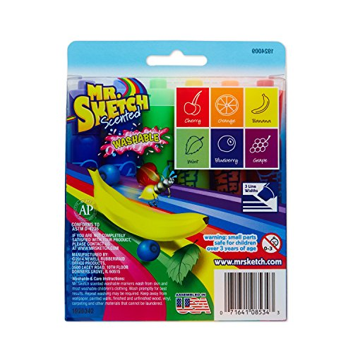 Mr. Sketch Scented Washable Markers, Chisel-Tip, Set of 6 by Mr. Sketch (Image #4)