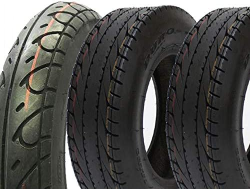 3本セット DURO製タイヤ HF263 3.50-10 DI2058 130/70-8 42L T/L(ホンダ HONDA 4サイクル ジャイロX用 前後タイヤセット)