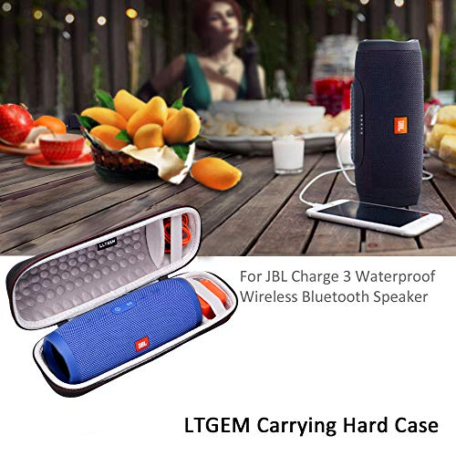 LTGEM Case for JBL Charge 3 Waterproof Portable Wireless Bluetooth Speaker. Fits USB Cable and Charger. [ Speaker is Not Include ] by LTGEM (Image #2)