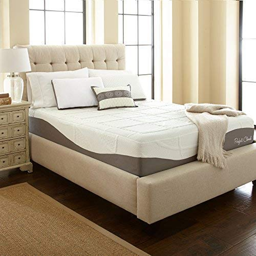 Perfect Cloud Elegance Memory Foam Mattress (Queen) - 12-Inches Tall - Features Luxurious Fabrics and Double Layer of Visco-Gel Cool Design for All-Night Comfort