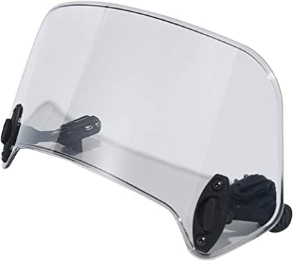 Fumo 25mm Parabrezza regolabile universale per moto Deflettore parabrezza Parti modificate Deflettore vento per moto