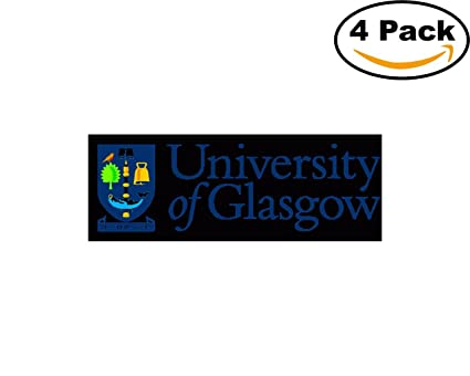Colleges and universities university of glasgow logo 4 stickers 4x4 inches car bumper window sticker decal