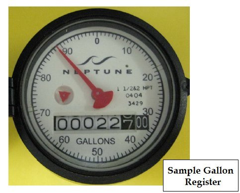 Neptune T-10 3/4'' Potable Water Meter - Measuring in Gallons