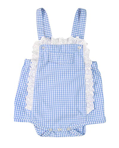 - Bee nene Baby Girl One-Piece Cotton Smocking Romper with Lace