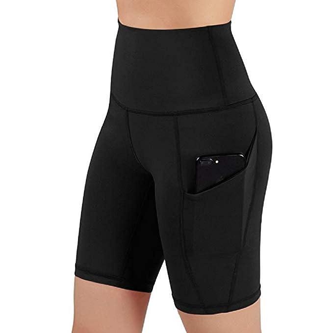 Amazon.com: iNoDoZ - Pantalones cortos de yoga para mujer ...