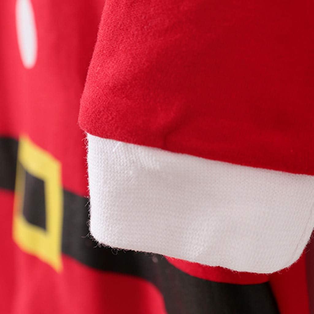 Neonato Neonato Simpatico pagliaccetto natalizio Tuta Completo Costume Cosplay Rosso 0-3 Mesi Vendite di abbigliamento per bambina Completo neonato