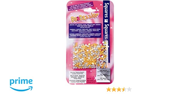 SAS BDZQ Be Dazzler Stud Refill, Squares Gold and Silver, 200-Pack