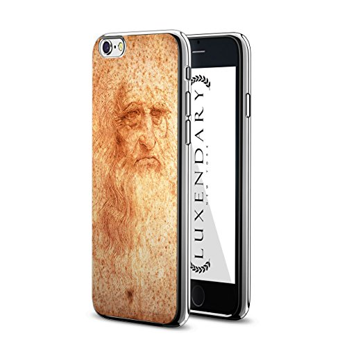 Luxendary LUX-I6PLCRM-DAVINCI1, Chrome Series Case for iPhone 6/6S Plus - Leonardo Da Vinci Portrait Design