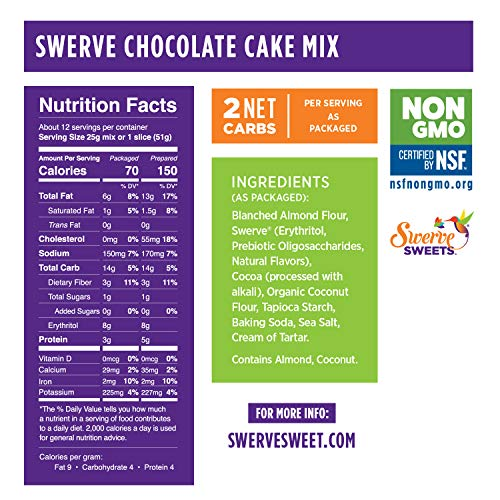 Swerve Sweets, Chocolate Cake Mix, 10.6 ounces (Pack of 2) 7