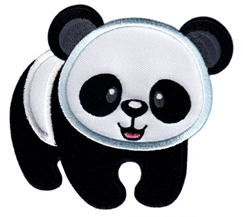 PatchMommy Iron On Applique Patch, Panda - Kids Baby
