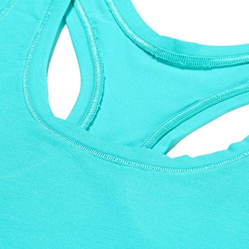 LAPASA Sujetador Deportivo de Algodón y MicroModal® - Top Bralette �?Fruity Blue (Turquesa 2)