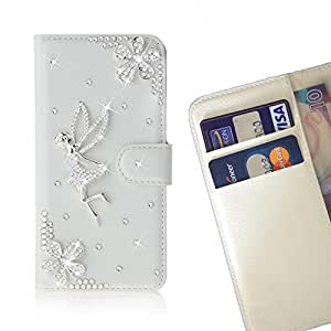 Fly Crystal Diamond Waller Leather Case Cover 3D Bling For Motorola Verizon DROID MAXX 2 / Moto X Play /- THE- /