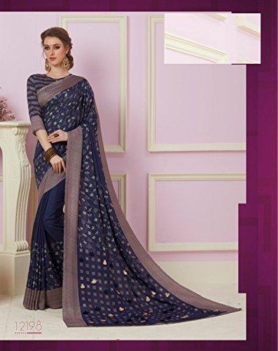 Cotton Silk Indian Bollywood Designer Saree Sari Wedding Ethnic Blouse Ceremony Formal 896 by ETHNIC EMPORIUM (Image #2)