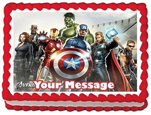 The Avengers Group ~ Edible Image Cake / Cupcake Topper decoration-7.5