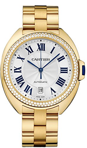 Cle De Cartier Automatic 40mm Midsize Watch Yellow Gold with Diamonds