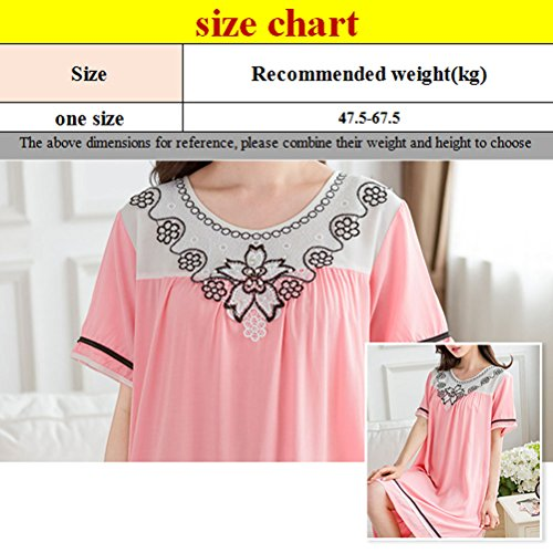 Zhuhaitf Womens Quality Premium Nightdress Nightshirt Light Pink