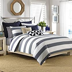 Nautica Lawndale Duvet Cover Set, Full/Queen, Navy