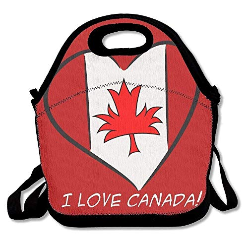 I Love Canada Canada Flag Insulated Lunch Bag