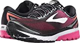 Brooks Women's Ghost 10 Black/Pink Peacock/Living Coral 8 D US