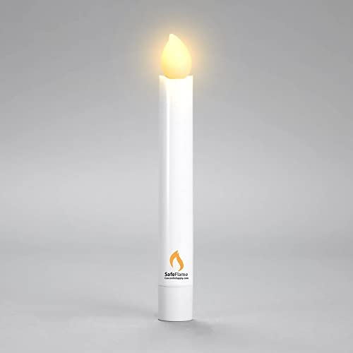 Concordia Supply Hand Held LED Flickering Amber Battery Candles – Church Service, Candlelight Vigil – AAA Batteries Included Pack of 250