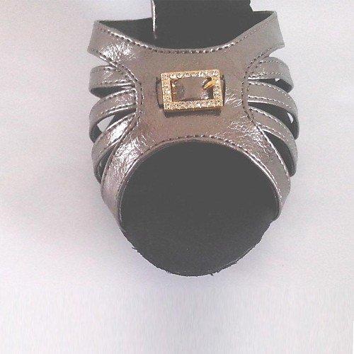 Personalizado con Q Gris Hebilla Zapato de tacón Gris T Mujer Cuero para Baile de T de yqwCRXTU