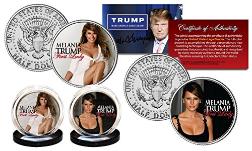 - MELANIA TRUMP First Lady 2016 Presidential Election OFFICIAL JFK U.S. 2-Coin Set