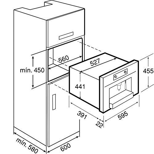 teka cml 45 einbau espresso kaffeevollautomat edelstahl. Black Bedroom Furniture Sets. Home Design Ideas