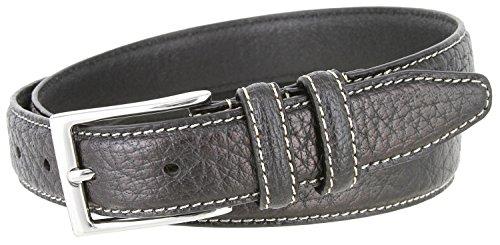 American Bison Range - Men's 100% American Bison Leather Dress Belt Made in USA 1 1/8