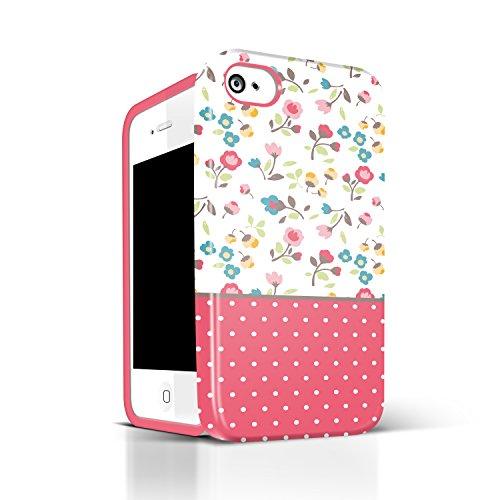 4s Teen Girl Cases Akna Glamour Series Flexible Tpu High Impact Flower Pattern