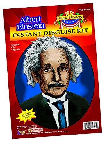 Child Heroes in History Instant Disguise Kit - Albert Einstein - Wig and Moustache